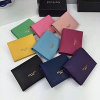 marcas de importação venda por atacado-Top qualidade mini carteira marca de alta qualidade Realmente pacote de cartão de bolso de couro na dobra de pacote de cartão de crédito original importado