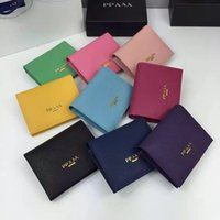 Wholesale Import Pack - Top quality mini wallet brand high-grade Really leather pocket card pack on the fold of imported original credit card package