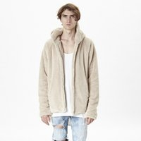 Wholesale Reversible Fleece - Wholesale- 2016 new arrival reversible mens coat hoodie brand clothing fur cool jackets for men clothes kanye west fleece sherpa jacket