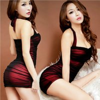 Wholesale Tight Transparent Dress Sexy Women - Women Hot Sexy Lingerie Costumes Sexy Underwear Slim Hip Female Sleepwear Stewardess Uniforms Transparent Tight Dress