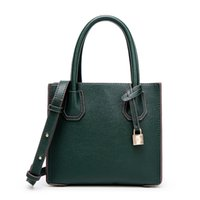 Wholesale Europe Style Handbag - Europe and the United States contracted handbag Dark green litchi grain single shoulder bag 2017 Fashion Women Handbag