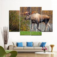 Wholesale Antler Spray - Moose with colorful antlers, Frameless paintings