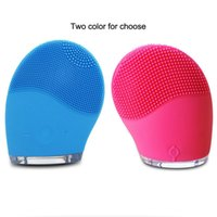 Wholesale Electric Cleaner Brush - Electric face washing waterproof cleanersing machine cleaning facial brush beauty tool silicone facial brush clean tool TM1068