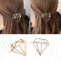 Wholesale Wholesale Boho Accessories - Hot Sale Metal Diamond Dia Hair Pin Clip Boho Style Lovely Girls Womens Children Golden Silver Hair Accessories Headpiece Hairpins Wholesale