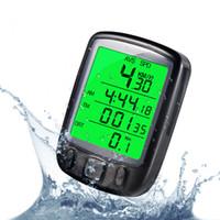 ingrosso retroilluminazione del tachimetro del calcolatore della bici-SunDing SD 563B Display LCD impermeabile con tachimetro contachilometri per bici da bicicletta