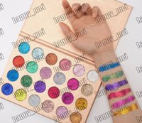 Wholesale Wholesale Direct 24 - Factory Direct DHL Free Shipping New Makeup Eye Cleof Cosmetics Glitter Eyeshadow Palette 24 Colors Pigmented Shimmer Eye Shadow!