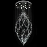 Wholesale crystal chandeliers pendant lamp spiral crystal pendant light K9 crystal chandelier LED lamp suspension lighting hotel lobby lounge