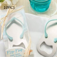 Wholesale Flip Flops Wedding Guests - Wholesale- Event Party Supplies Flip Flop Beach Thong Bottle Opener For Wedding Favors and Gifts for Wedding Baby Bridal Shower and Guests