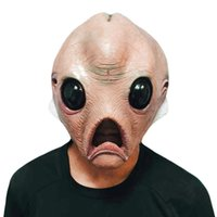 Scary Alien Head Masks Máscara de látex Full Face Halloween Masquerade Fancy Dress Party Costume Extraterrestrial Mask