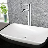 Wholesale Basin Mixer Faucet Accessories - Wholesale- Bathroom Accessories Basin Faucets Modern Chrome Waterfall Basin Mixer Bathroom Faucets Hot and Cold Water Tap