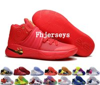 Wholesale Tie Up Balls - 2017 New Kyrie Irving Shoes Mens Basketball Shoes Kyrie 2 Bright Crimson Tie Dye BHM Basket Ball Olympic Men Kyries 2s Sports Sneakers