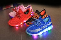 Wholesale Outdoor Lighting Led Dmx - Us size: 9.5-4 Children Shoes With Light Boys Growin Led Sneakers Spring Sport Led Light Girls Shoes Children Running Kids Shoes