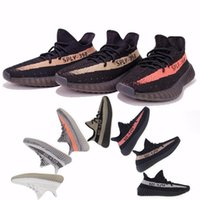 Wholesale Orange Coppers - SPLY 350 boost V2 2016 Newest BY9612 BY1605 Black Red Copper Green Bred Boost 350 running shoes Grey Orange running Shoes 36-46