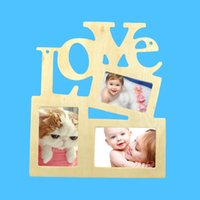 Wholesale Bamboo Picture Framing - Photo Frame Woodiness Love Siamese High Quality Letter DIY Picture Frames Art Home Decor Hot Sell 2 87ae F R