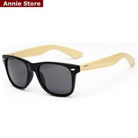 Wholesale wholesale real sunglasses online - Peekaboo Brand design rivets classic bamboo sunglasses mens women real bamboo sun glasses mirror matte black gafas sol