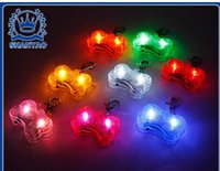 Wholesale Dog Tags Pet Supplies Pendants - 6 Colors Pet Dog Tag Pendant Safety Supplies LED Luminous Pendant Ornaments Glowing Pet Supplies Pets Tags