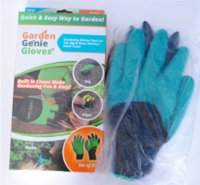 Wholesale 2017 Garden Work Genie Latex Gloves Rubber Polyester Builders with Claws Quick Easy way to Garden Digging Planting