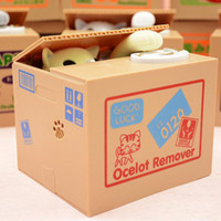 Wholesale electronics money online - Cat Steal Coin Panda Bank Electronic Plastic Money Safety Box Battery Coin Bank Money Boxes for Children Kids Gift ZA2666