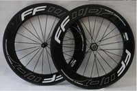 Wholesale Carbon Clincher Wheelsets - FFWD 700C bike full carbon wheels 88mm tubular clincher wheelsets 23mm width road bicycle wheels free shipping