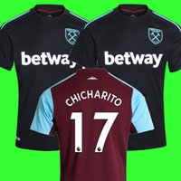 Wholesale Cheap Thailand - Cheap Thailand Chicharito soccer jerseys West ham united 2018 football shirt CARROL MOBLE LANZINI FEGHOULI ARNAUTOVIC west ham jersey 17 18