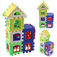 24pcs Baby House Building Blocks Construction Toy Kids Brain Game Apprendre des jouets éducatifs