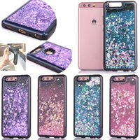 Liquid Glitter Floating Star Love Heart Running Quicksand Dynamic Soft Custodia in gel TPU per Huawei Y530 Y625 Y635 P9 P10 Plus P8 Lite 2017 Mate8