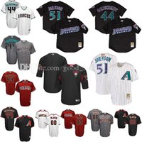 Wholesale Bat Xl - Custom Men's Arizona Diamondbacks 44 Paul Goldschmidt 51 Randy Johnson 22 Jake Lamb baseball jerseys Cool Base  Mesh Batting Practice Jersey