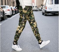 Wholesale Drop Crotch Jeans - Wholesale- Camouflage Jeans Mens New Fashion Camo Harem Jeans Drop Crotch Free Shipping Size S,m,l,xl,2xl,3xl,4xl,5xl,