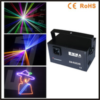 Wholesale 3d Lasers Rgb - Wholesale-ILDA+SD+DMX+3D Multi-Functional 1500MW 1.3w dynamic laser rgb outdoor text lazer lights music festival nightclub laser