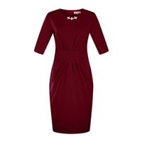 Wholesale Hot Spring Dresses For Women - Hot Sale 3 4 Sleeve Formal Dress Plux Fashion Spring Business Wear 6XL Size New Dress For American And European Women Wholesale