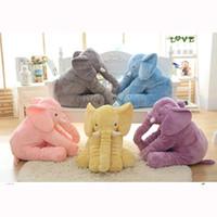 Wholesale Purple Baby Crib - 40 cm Baby Crib Elephant Plush Toy ,5 Colors Option Stuffed Elephant Pillow Newborn Cushion Doll Bedding For Adults Kids Toys