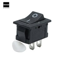 Wholesale Dip Switch Circuit - New 50PCS Black Push Button Mini Switch 6A-10A 250V KCD1-101 2Pin Snap-in On Off Rocker Switch 21*15MM Integrated Circuits