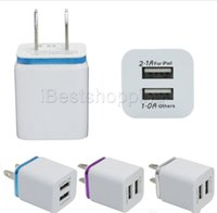 Malloom Metal Dual USB Chargeur mural EU US Plug 2.1A Adaptateur Chargeur Plug 2 Port pour Samsung Galaxy Note LG Tablet