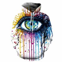 Wholesale Girl 3d Painting - 2017 new good manufacture wholesale low price hoodies 3D print all kinds of painting one big eye paint hoody boys girls unisex sweatshirt