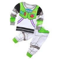 Wholesale New Super Mario Clothes - New Arrival toddler boy clothes set Buzz Lightyear kids pajamas set cartoon woody pijama infantil super mario bros pijama 2pcs