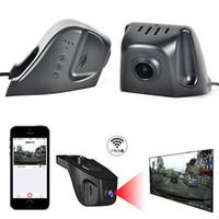 Wholesale car hid hd online - WIFI P Playback Hidden Car DVR HD Video Camera Recorder Night Vision Dashboard Vision Veicular Camera video Registrator Car DVR