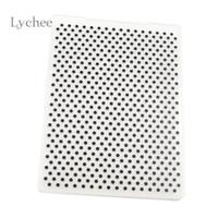 Wholesale Pattern Stamp Tool - Plastic Embossing Folder For Scrapbook DIY Album Card Tool Plastic Template Stamping Round Dot Pattern