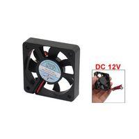 ventiladores de refrigeração de plástico venda por atacado-Atacado-New Plastic DC 12V 2 pinos Conector Fanless Ventilador 50mm x 50mm x 10mm