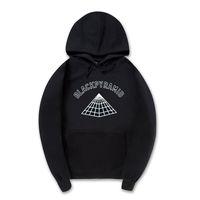 Wholesale Pyramid Silver - Wholesale- New MEN AND women Hoodies black pyramid sweatshirts Hip hop Streetwear brand clothing Hooded hooded sportswear