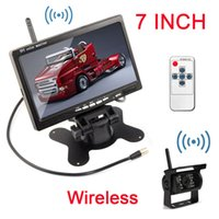 "Wholesale Wireless Back Camera For Car - Wireless IR Rear View Back up car Camera Night Vision System+7"" Monitor for RV Truck"