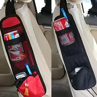 Wholesale Wholesale Clothing Magazines - Wholesale- Car Seat Organiser Storage Bags Phone Magazine Drinks Container Auto Styling Traveling Gear Stuff Accessories IC871786