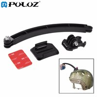 Wholesale Camera For Motorcycle Helmets - For Sports Camera GoPro Accessories Outdoor Motorcycle Cycling Helmet Extension Arm Set Mount for GoPro HERO5 HERO4 Session HERO