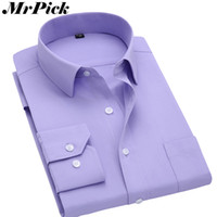 Wholesale wholesale cotton candy business - Wholesale- Candy Colors Shirt Men 2015 New Brand Business Casual Long Sleeve Shirts Cotton Comfortable Breathable Plus Size 3XL Z1394-Euro
