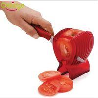 Wholesale Red Onions - Delidge 1 pcs Tomato Slicer Holder Food-Grade Plastic Fruit Vegetable Cutter Red Tomato Holder Slicer Guide Onion Holder Cutter