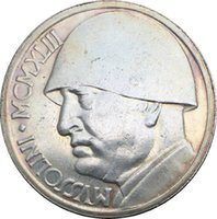 Wholesale metal medals - 1943 Italian 20 Lire Mussolini WWII Medal