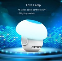 Wholesale Wireless Remote For Lights - Portable Bluetooth Speaker Smart Remote Lamp Light Color Changing Rechargeable LED Light Wireless Speaker For Android   IOS