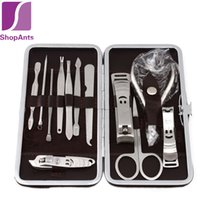 Wholesale Scissors For Nail Art - Nail Tools Sets Kits Nail Art Manicure Tools Set Nails Clipper Scissors Tweezer Knife Manicure Sets Stone Pattern Case For Nail Manicure