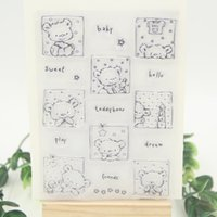 Wholesale Bear Photo Album - Wholesale- Cute Bears Transparent Clear Silicone Stamp Seal for DIY scrapbooking photo album Decorative clear stamp sheets