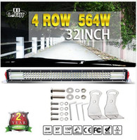 Led Light Bar 1x 564W 32 Inch Cree Chip 56400Lm Combo Straight Led Strip para 4WD Jeep Ford Toyota Gaz Uaz Lada 4x4