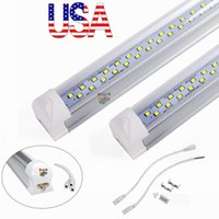 Wholesale Feet Warmers - T8 Integrated Double row led tube 4ft 28w 8ft 72w SMD2835 led Light Lamp Bulb 4 foot 8 foot led lighting fluorescent
